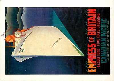Picture Postcard; EMPRESS OF BRITAIN POSTER (REPRO)