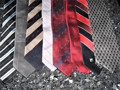 BULK LOT OF 8 VINTAGE mens RETRO neck ties in VERY GOOD CONDITION (1 never used)