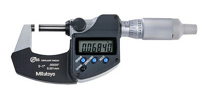 "!!NEW!! Mitutoyo Digital Micrometer, 293-344-30, 0-1""/0-25.4mm (IP65)"