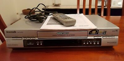 Panasonic Video Cassette Recorder with Remote Control & Instructions