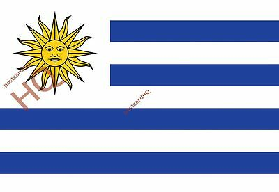 Picture Postcard~ Uruguay - Flag (HQ-F-UY)