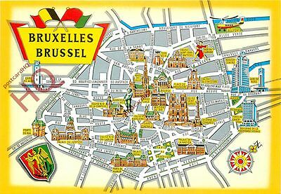 Picture Postcard, Brussels, Map