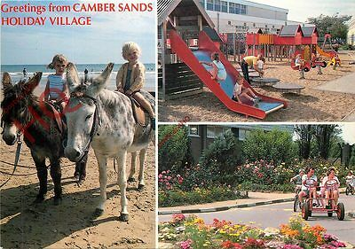 Picture Postcard, Camber Sands Holiday Village, Children On Donkey (Multiview)