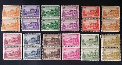 SCARCE 1947 Norfolk Island set of 12 pairs of Ball Bay stamps Mint