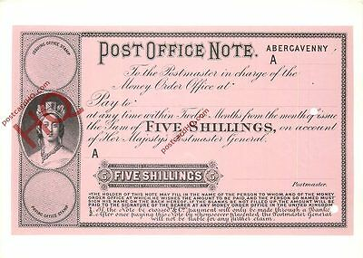Picture Postcard, Post Office Note, Abergavenny