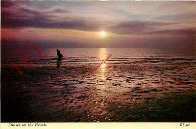 Picture Postcard:;Sunset On The Beach