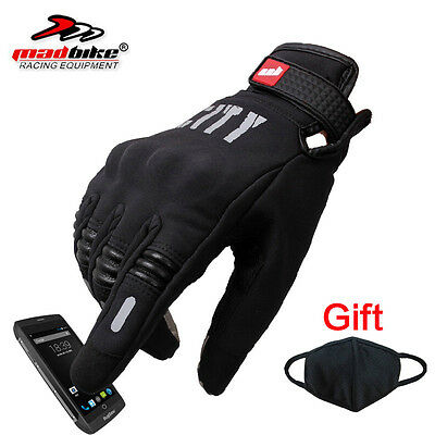Motocross Racing Full Finger Motorcycle Cycling ScreenTouch Gloves Size M/L/XL