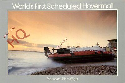 Postcard:-HOVERCRAFT, WORLD'S FIRST SCHEDULED HOVERMAIL, ROYAL MAIL STAMPED