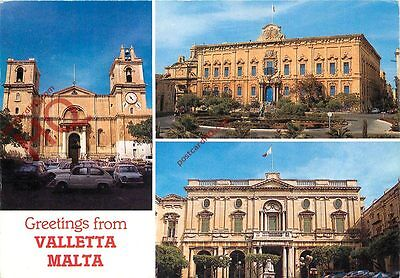 Picture Postcard; Malta, Valletta (Multiview)