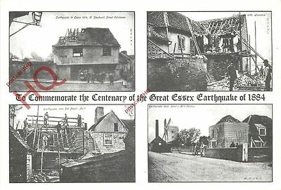 Picture Postcard; The Great Essex Earthquake Of 1884 Centenery (Multiview)