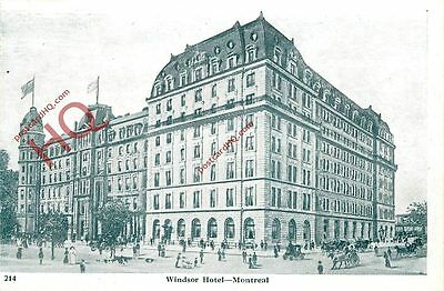 Picture Postcard; Montreal, Windsor Hotel