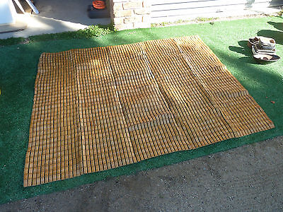 Bamboo ground tile mat rug, Item 98, Pick up Langwarrin