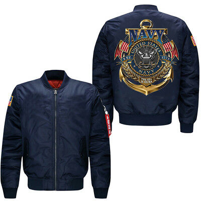 """United states navy"" men's leisure jacket collar code Air Force pilots jacket"