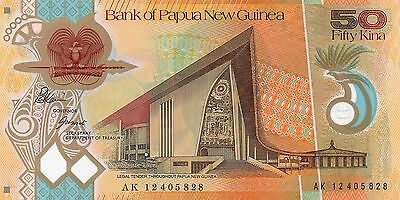 PAPUA NEW GUINEA 50 Kina 2012 P New UNC Banknote (new signature - last one)
