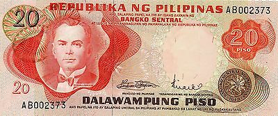 PHILIPPINES 20 Pesos ND 1970 P150a UNC Banknote