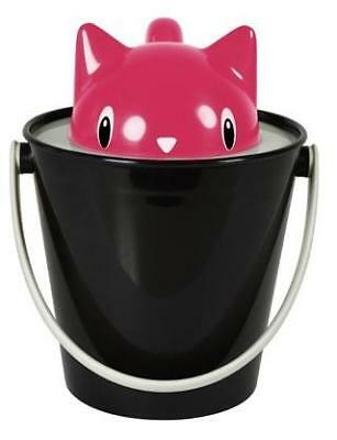 United Pet Crick Cat Container With Scoop Black And Red