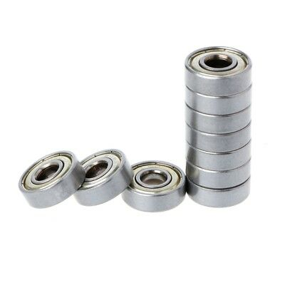 10Pcs 608ZZ Mini Metal Double Shielded Flanged Ball Bearing For 3D Printer Parts