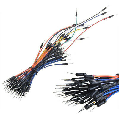 65pcs Male to Male Flexible Solderless Breadboard Jumper Wire Connect Cable