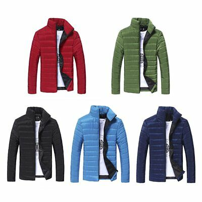 Men Warm Cotton Padded Down Coat Winter Slim Thick Casual Outerwear Jacket FU
