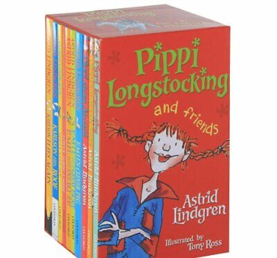 Pippi And Friends Ten Books Box Set by Lindgren, Astrid Book The Cheap Fast Free