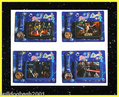 Boys Wallet And Watch Set,purse,star Wars,darth Vader,the Force Awakens,uk Sell