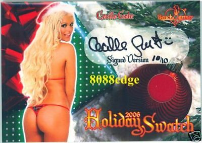 2006 Benchwarmer Holiday Swatch Auto: Cecille Gahr #10/10 Autograph Reality Tv