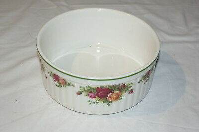 """Royal Albert Old Country Roses Souffle Dish 7"""" Brand New"""