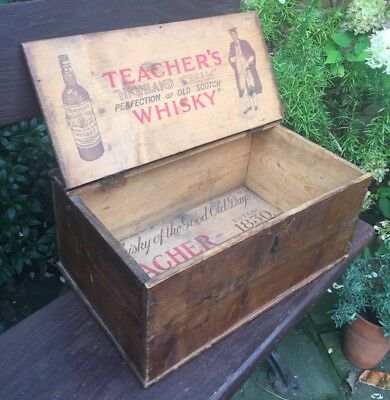Early Vintage Antique Storage Box Original Rustic Industrial~Quirky! Whisky!
