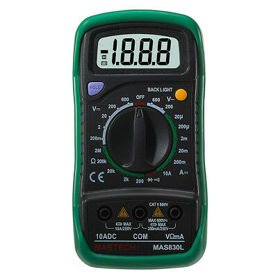 MASTECH MAS830L Digtal Multimeter Multi Tester with DC/AC Voltage Diode HFE B1A5