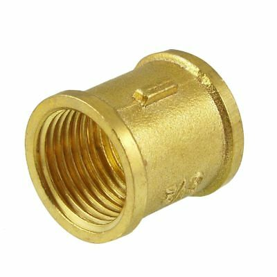 "G 1/2"" Female Thread Brass Straight Coupling Connector for Water Air Fuel P N8R4"