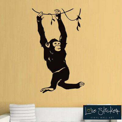 Monkey Ape Animal Safari Hall Living Cool Boy Wall Art Stickers Decal Vinyl Room