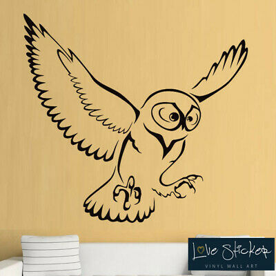 Owl Bird Prey Animal Hall Living Cool Boys Wall Art Stickers Decal Vinyl Room