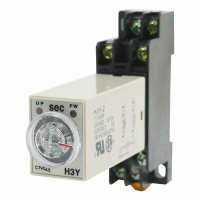 H3Y-2 AC220V Delay Timer Time Relay 0 -10 Seconds with Base