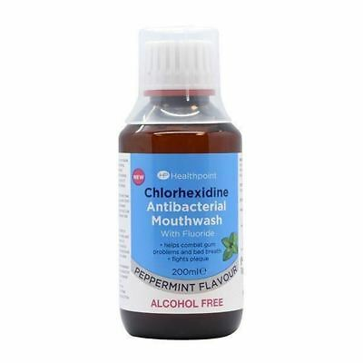 6 PACKS Healthpoint Chlorhexidine Antibacterial Mouthwash Alcohol Free 200ml