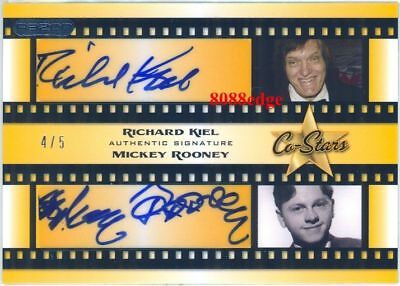 2010 Pop Century Dual Auto:richard Kiel/mickey Rooney #4/5 Autograph Razor
