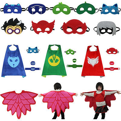 PJ Masks Figures Cape/Masks Owlette Gekko Catboy Figure Cosplay Party Props Lots