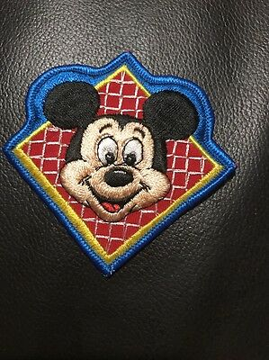 1970s Walt Disney Mickey Mouse Character Patch Vintage