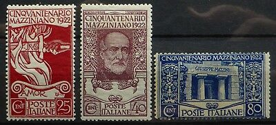 ITALY 1922 SG126/8 Mounted Mint NB3630