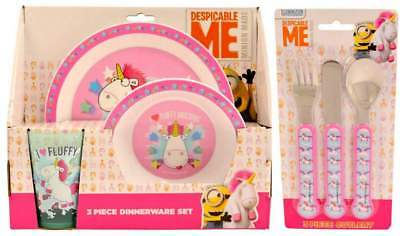 Despicable Me Unicorn 6-Piece Dinner Set | Tumbler, Bowl, Plate and Cutlery