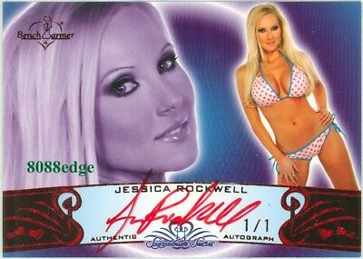 2010 Benchwarmer Red Auto: Jessica Rockwell #1/1 Of Autograph Signature Series