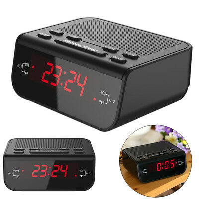 1Pc LED Digital FM Alarm Clock Radio With Dual Alarm Snooze Sleep Time Function