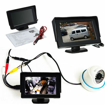 """1Pc HD 4.3"""" LCD Car Rearview Rear View Test Monitor Reverse Backup CCTV Camera"""