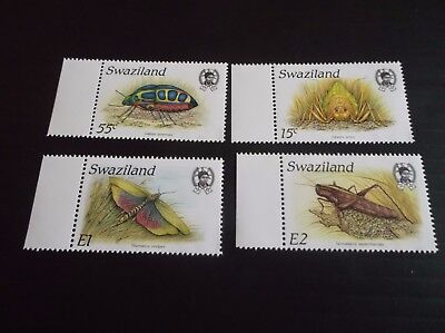 Swaziland 1988 Sg 541-544 Insects Mnh
