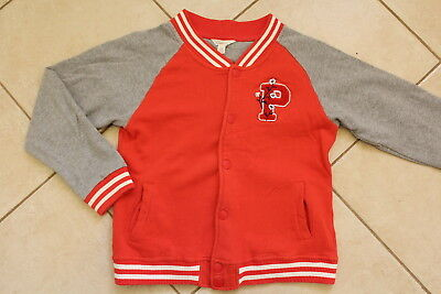 Pumpkin Patch Girls Size 12 Red Gray Baseball Style Jacket Ex.con.