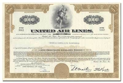 United Air Lines, Inc. Bond Certificate