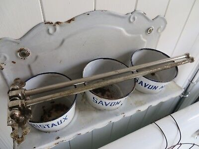 SUPER VINTAGE FRENCH PORTE SERVIETTES / SWINGING BAR TOWEL RAIL 1940's ~