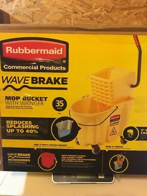 Rubbermaid Commercial Products 35 Qt. Wavebrake Mop Bucket with Wringer