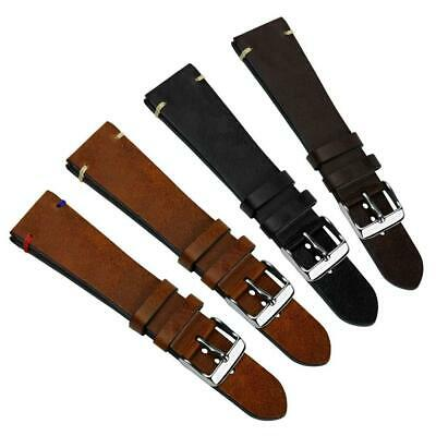 Geckota® Vintage Winchester Genuine Leather Watch Strap, Brown, 20mm & 22mm