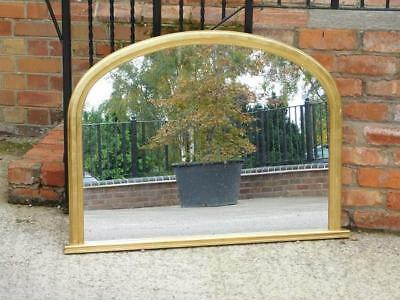 A Lovely Gilt Framed Overmantle Wall Mirror In The Antique Manner