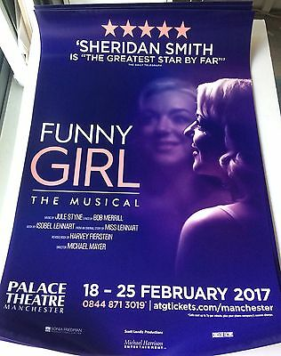 Funny Girl Musical Theatre Poster Sheridan Smith - A1 Size Manchester